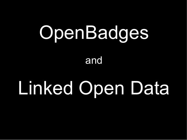 OpenBadges and Linked Open Data