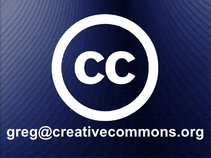 Creative Commons + FLOSS @ MUG
