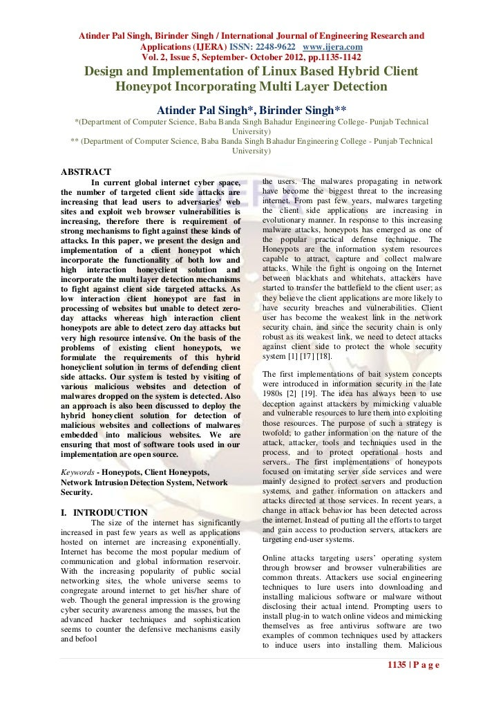 Atinder Pal Singh, Birinder Singh / International Journal of Engineering Research and                    Applications (IJE...