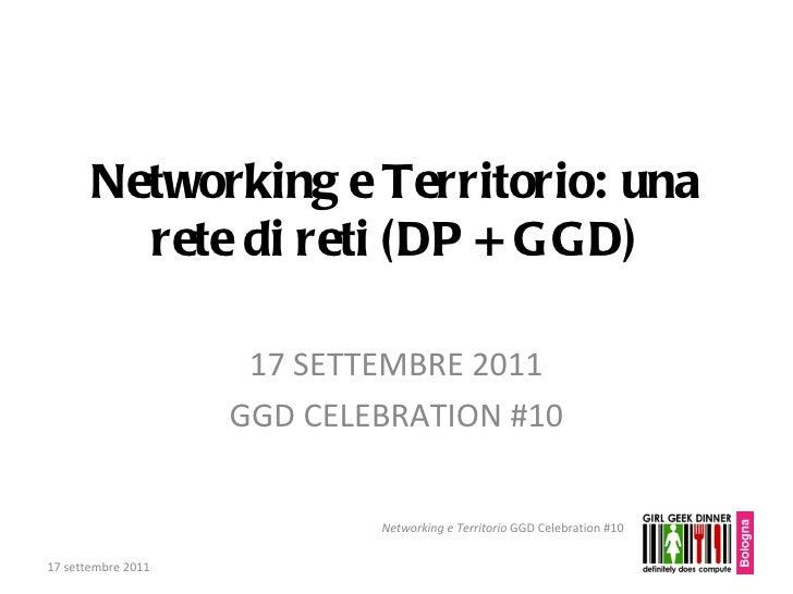 Networking e Territorio: una rete di reti (DP + GGD) 17 SETTEMBRE 2011 GGD CELEBRATION #10 17 settembre 2011 Networking e ...