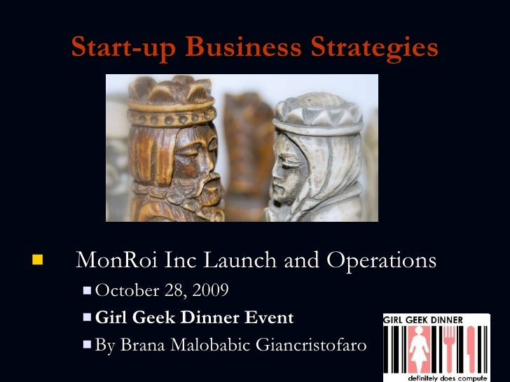 Start-up Business Strategies <ul><li>MonRoi Inc Launch and Operations </li></ul><ul><ul><ul><li>October 28, 2009 </li></ul...