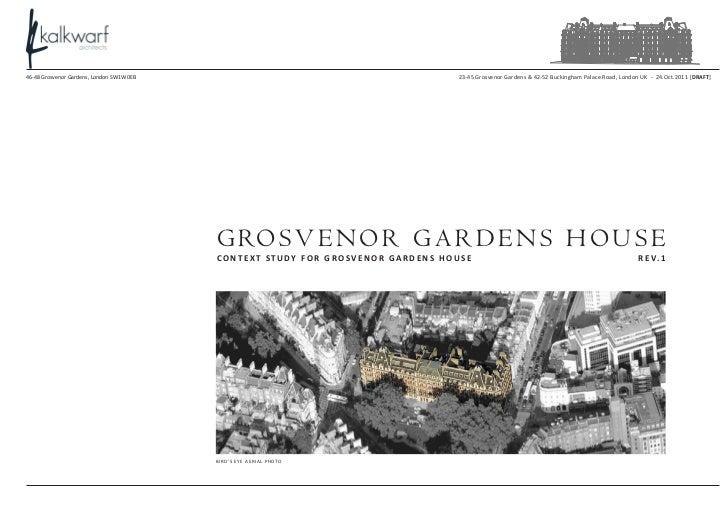 Context study for Grosvenor Gardens House (GGH)