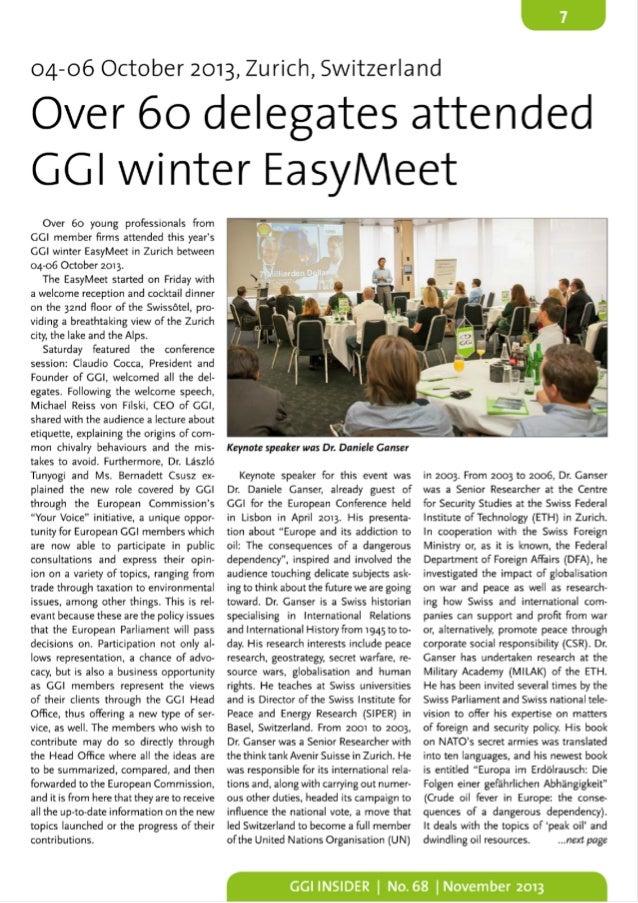 DealMarket at GGI Easy Meet Conference in Zurich