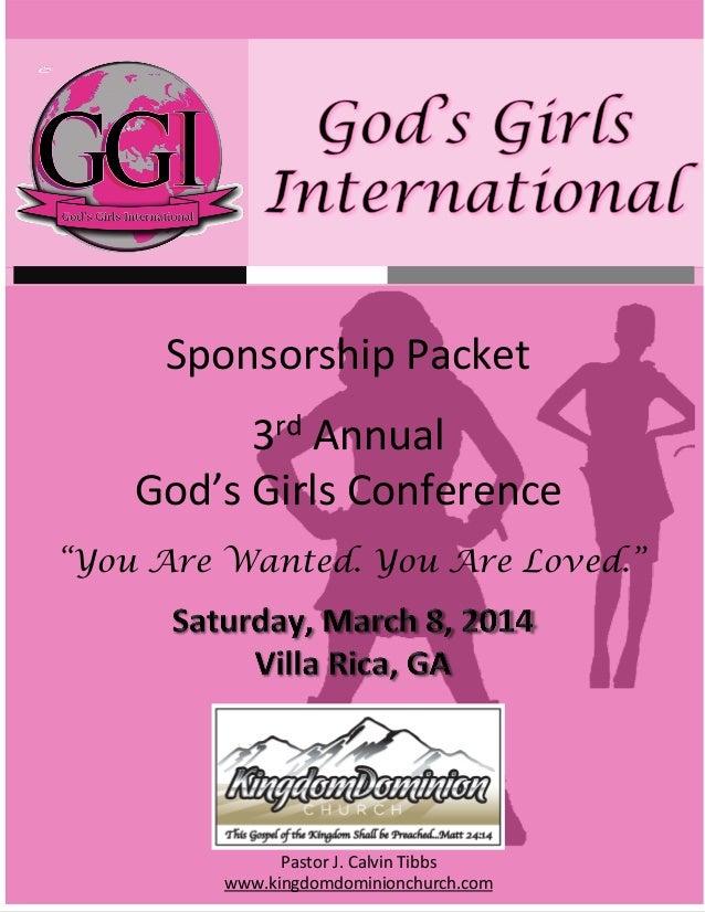 God's Girls Conference 2014 Sponsorship Packet