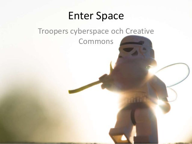 Enter SpaceTroopers cyberspace och CreativeCommons