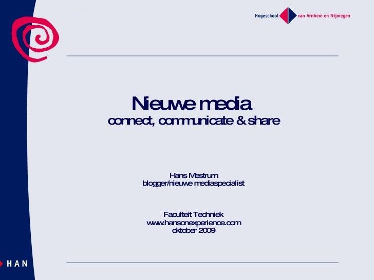 Presentatie Nieuw Media okt 2009