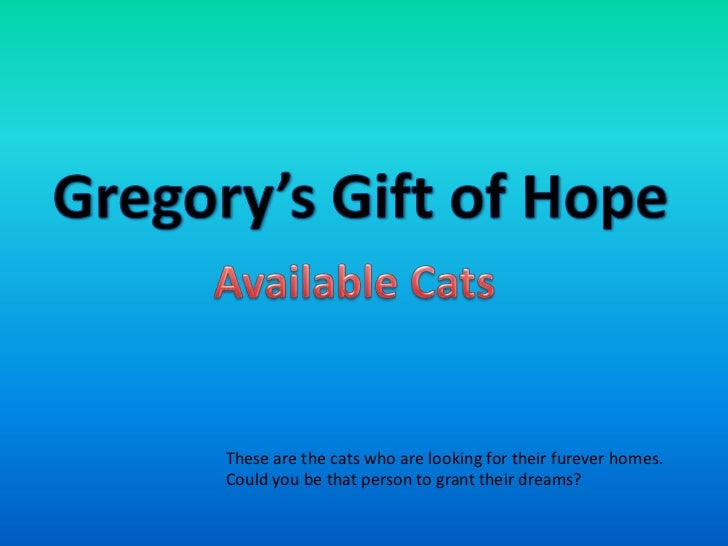 Gregory's Gift of Hope - CATS