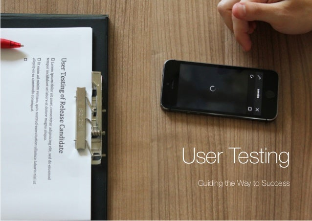 (Replace with full screen background image) User Testing Guiding the Way to Success