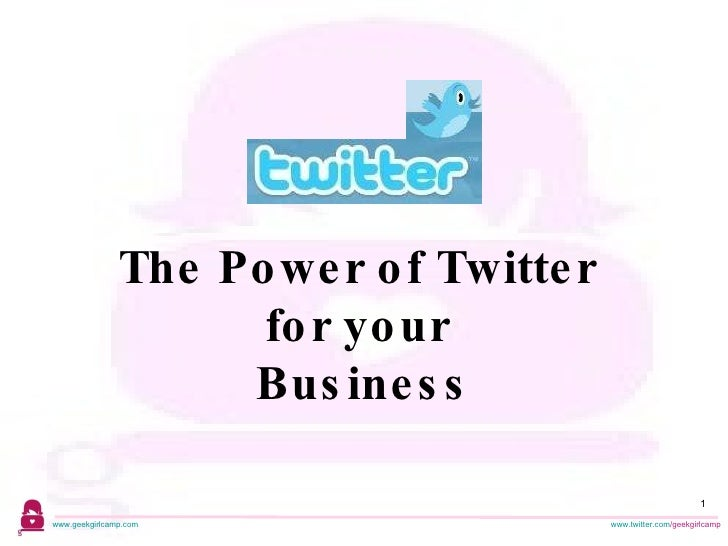 The Power of Twitter  for your  Business