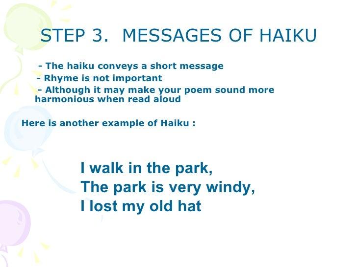 Teaching haiku poem