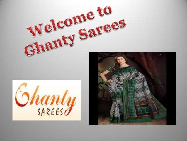 Ghanty sarees presentation