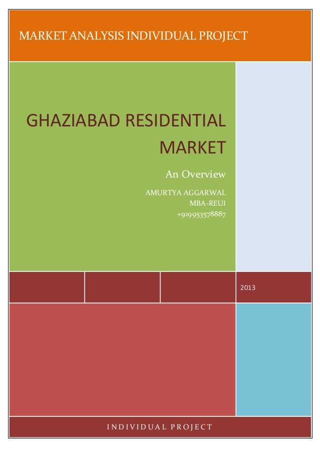 MARKET ANALYSIS INDIVIDUAL PROJECT 2013 GHAZIABAD RESIDENTIAL MARKET An Overview AMURTYA AGGARWAL MBA-REUI +919953578887 I...