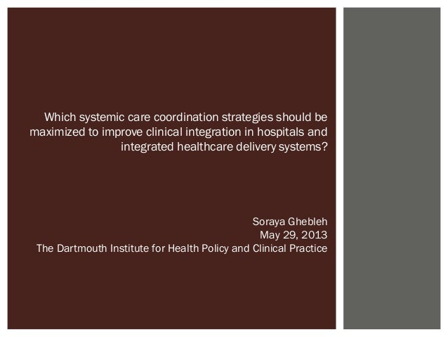 Which systemic care coordination strategies should be maximized to improve clinical integration in hospitals and integrate...