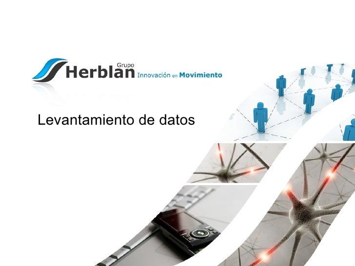 Levantamiento de datos para empresas