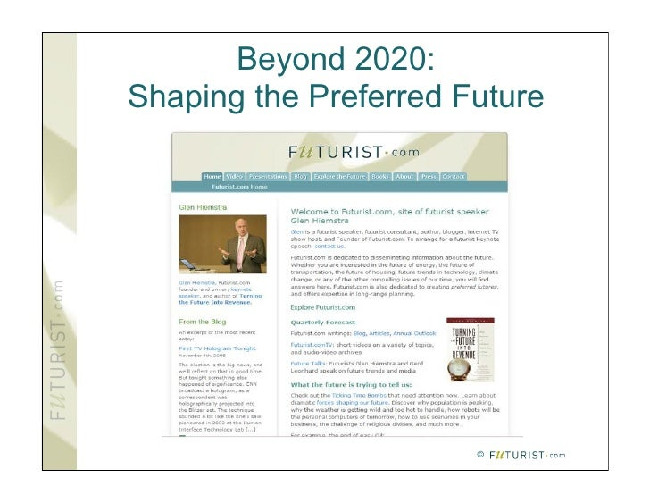 Beyond 2020: Shaping the Preferred Future                            ©