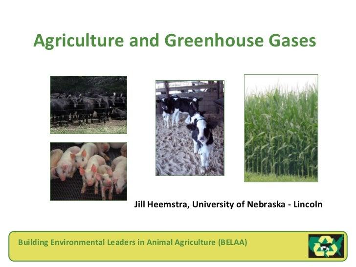 Agriculture and Greenhouse Gases                              Jill Heemstra, University of Nebraska - LincolnBuilding Envi...