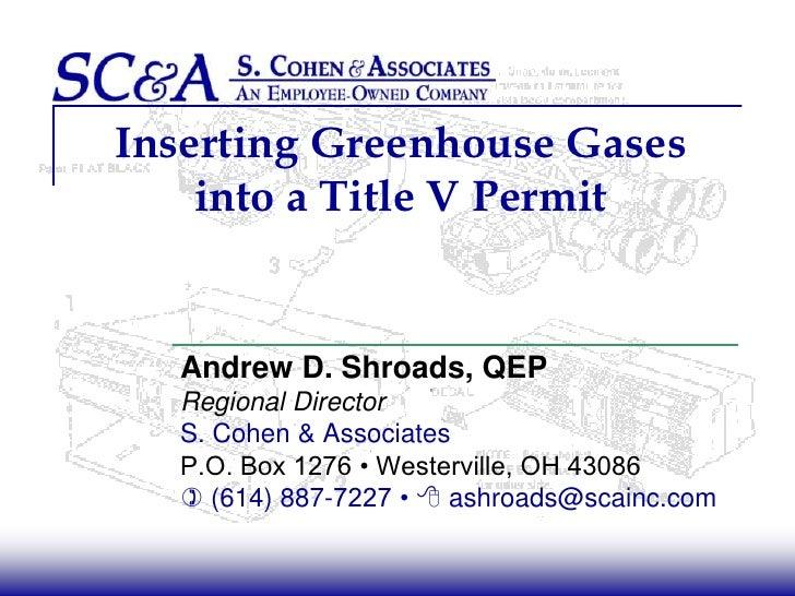 Greenhouse Gases & Title V