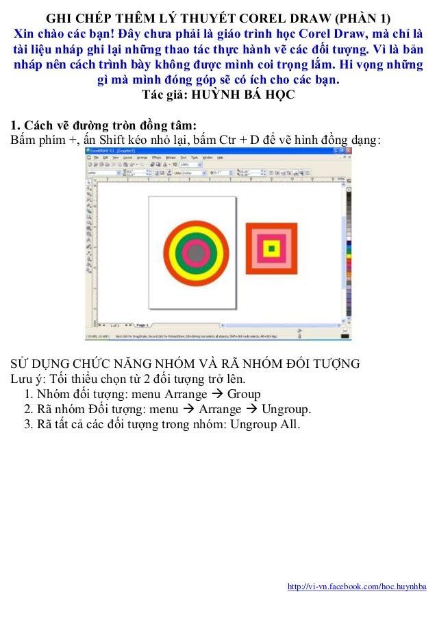 Ghi chép lý thuyết corel draw 1