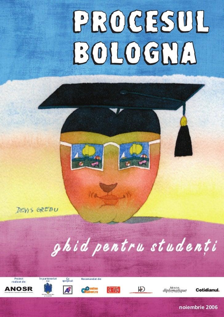 Procesul Bologna - Ghid pentru studenti