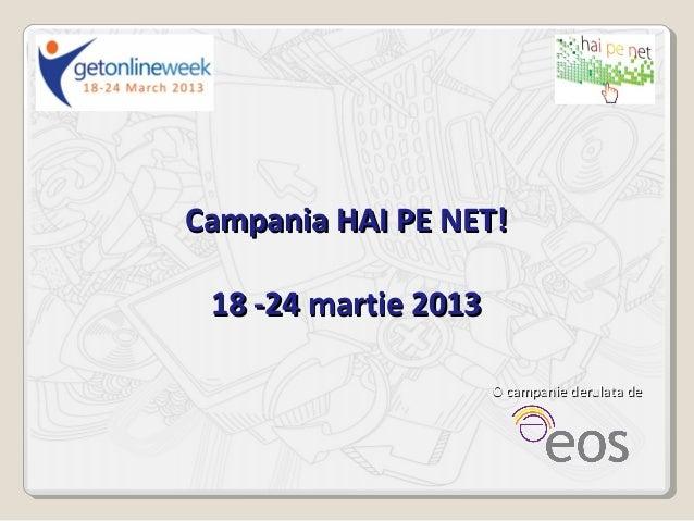 Ghid campanie hai pe net 2013