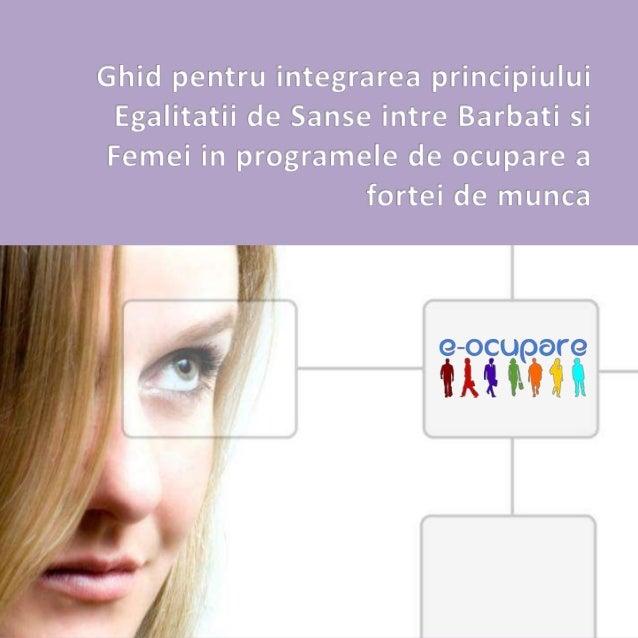 Ghid de buna practica   integrarea principiului egalitatii de sanse intre barbati si femei