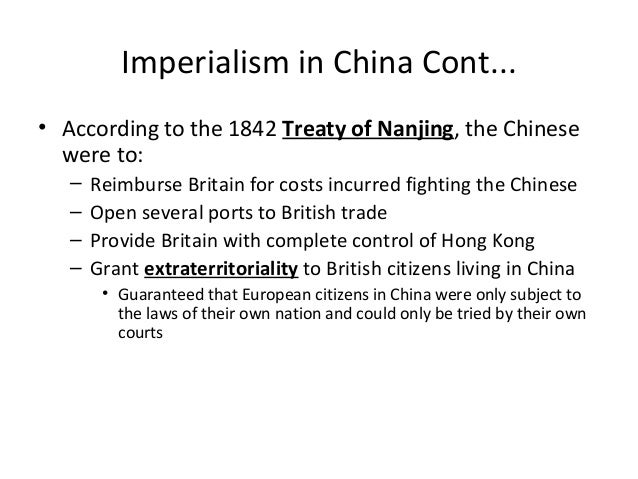effect of imperialism to china