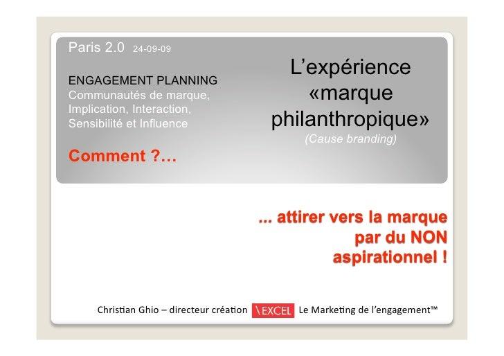 "Christian Ghio : ""Engagement planning"" (PARIS 2.0, Sept 2009)"