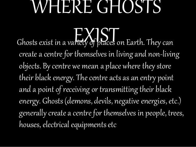a discussion on the existence of ghosts Talk:ghost/pseudoscience purely philosophical discussion of ghosts to address the investigation conclusions about the existence of ghosts through.
