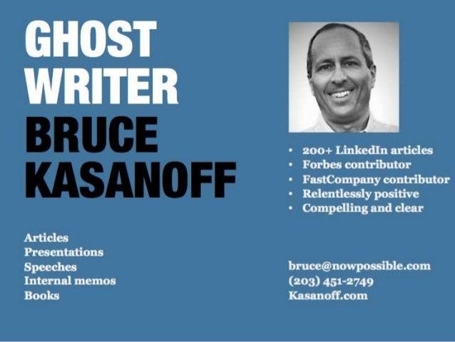 Ghostwriter Bruce Kasanoff