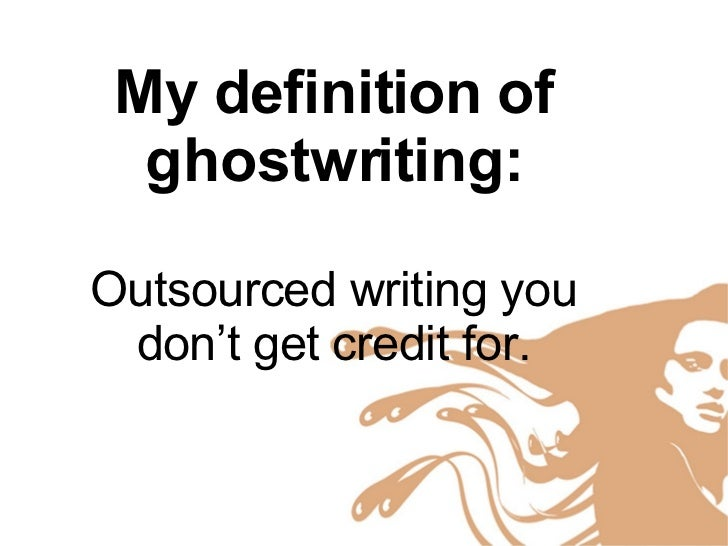 Master thesis ghost writer