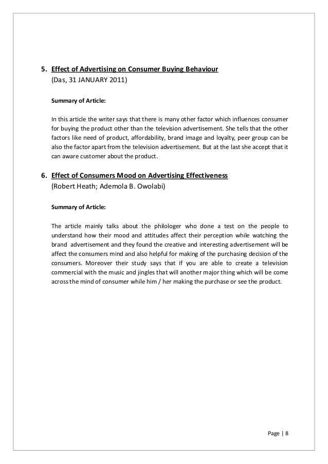 Advertising impact | Syed Valiullah Bakhtiyari - Academia edu