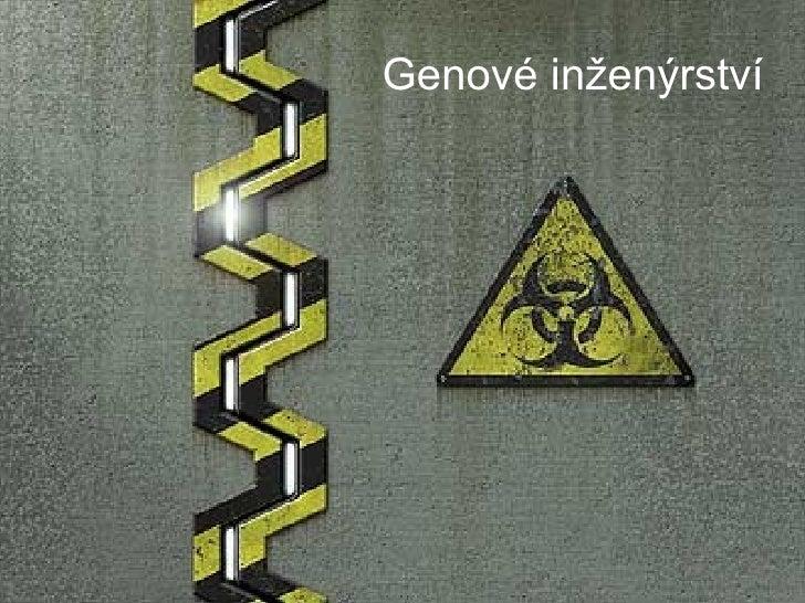 Genové inženýrství