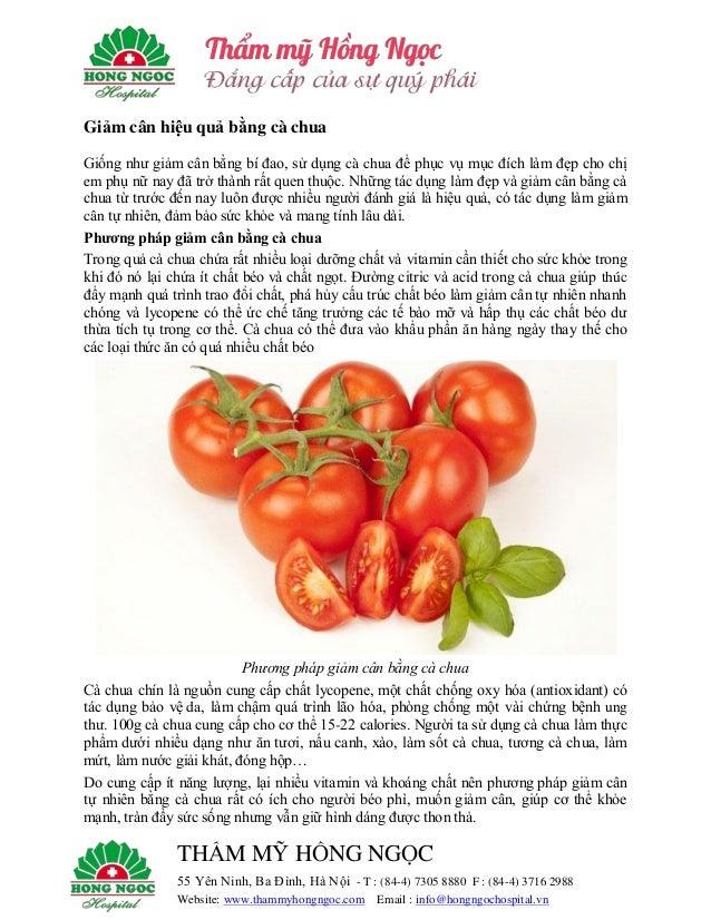 Giảm cân hiệu quả bằng cà chua