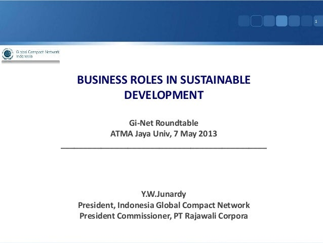 GI Net 10 - Business Roles in Sustainable Development