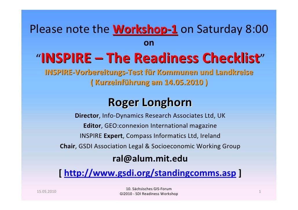 GI2010 symposium-ws1.1 sdi-readiness-checklist (longhorn 14+15-may2010)