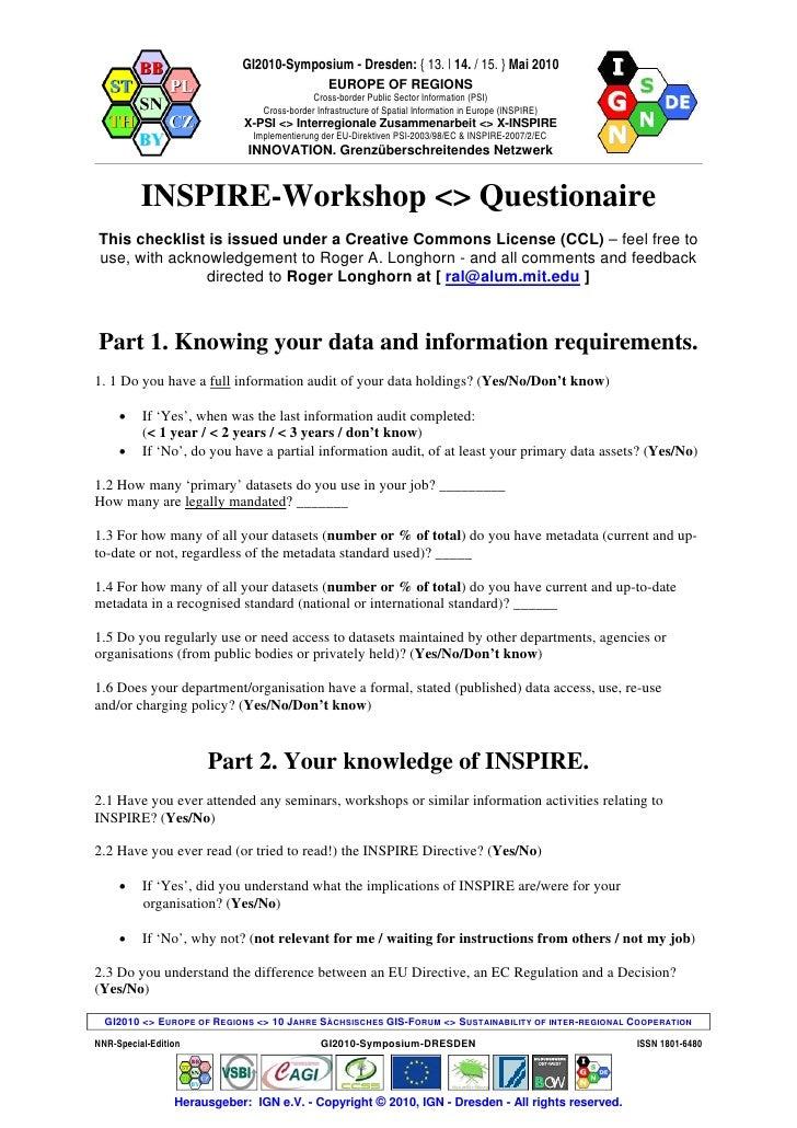 GI2010 symposium-ws1.3 longhorn (inspire sdi questionaire)