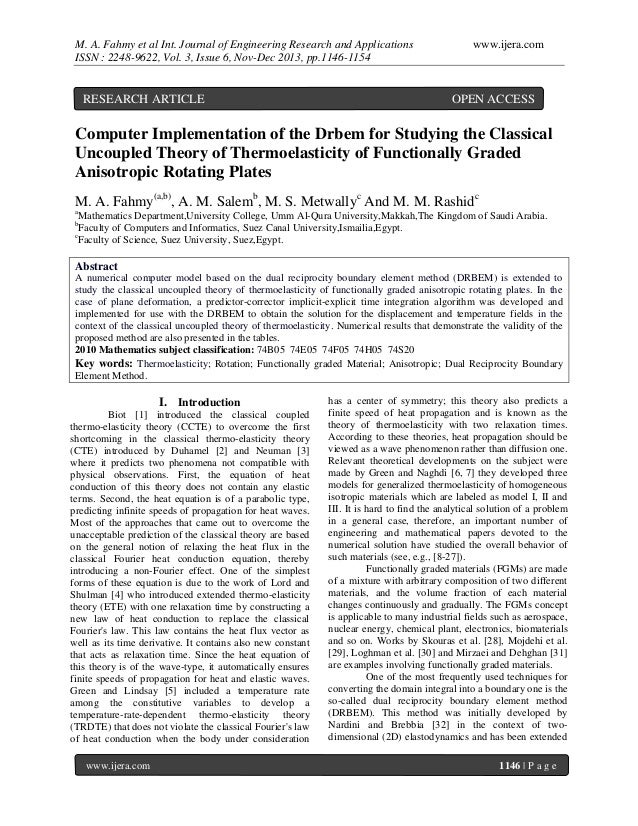 M. A. Fahmy et al Int. Journal of Engineering Research and Applications ISSN : 2248-9622, Vol. 3, Issue 6, Nov-Dec 2013, p...