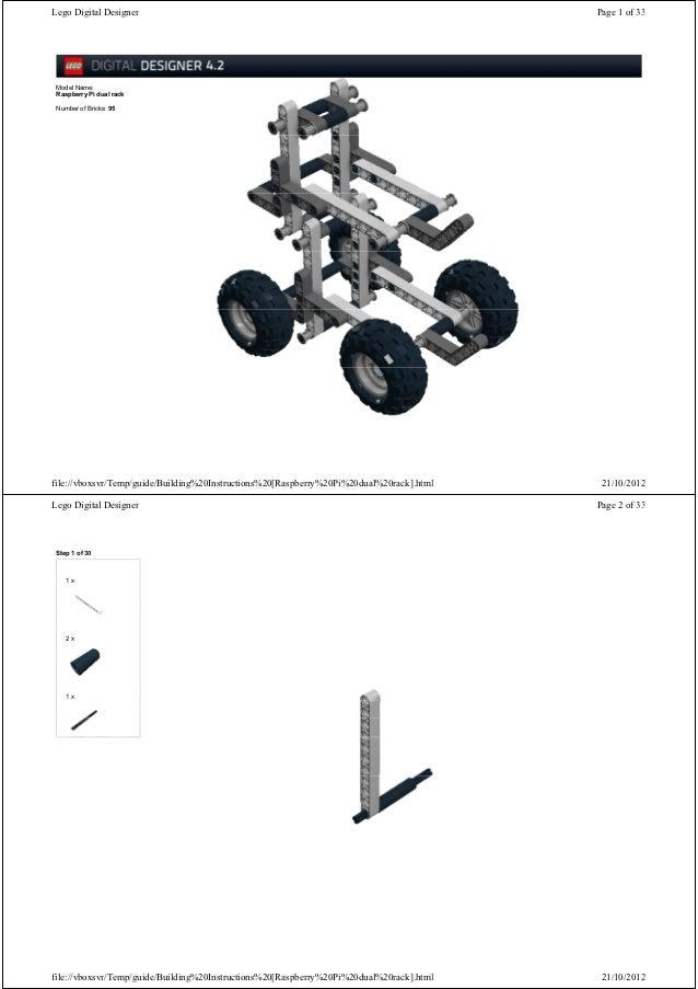 Lego Digital Designer                                                                     Page 1 of 33 Model Name: Raspber...