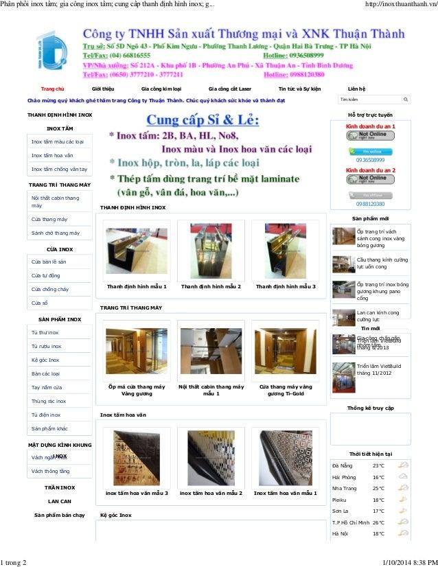 Phân phối inox tấm; gia công inox tấm; cung cấp thanh định hình inox; g...  1 trong 2  Trang chủ  Giới thiệu  Gia công kim...