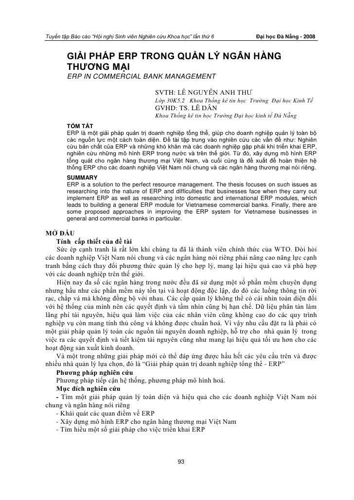 """Tuyển tập Báo cáo """"Hội nghị Sinh viên Nghiên cứu Khoa học"""" lần thứ 6             Đại học Đà Nẵng - 2008           GIẢI PHÁ..."""