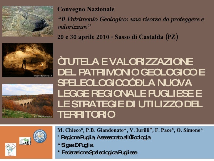 Tutela e valorizzazione del patrimonio geologico