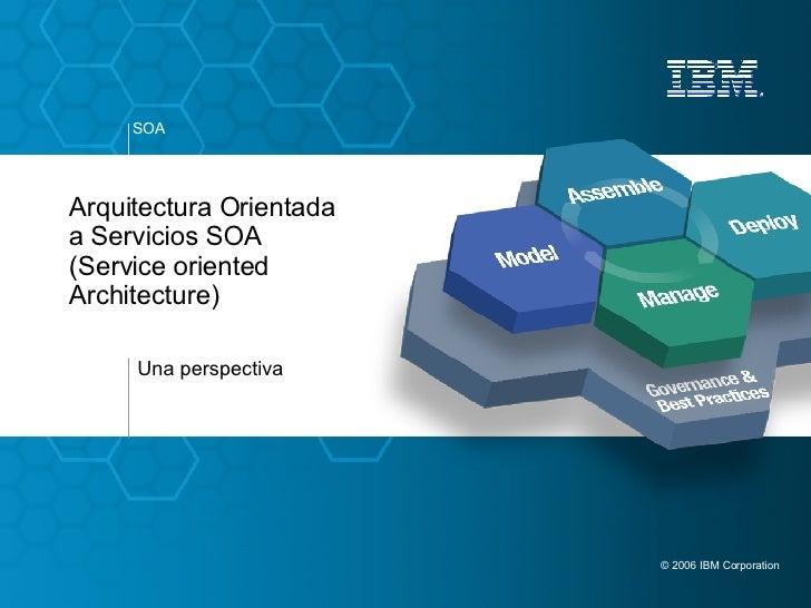 Arquitectura Orientada a Servicios SOA (Service oriented Architecture)