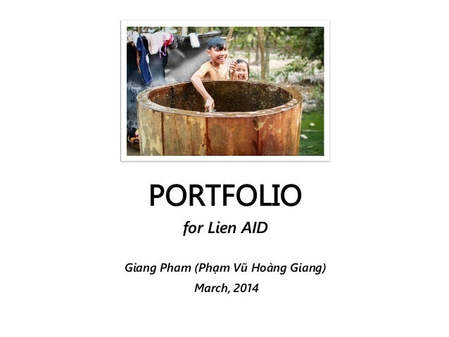 Giang Pham's Portfolio (for LienAID 2014)