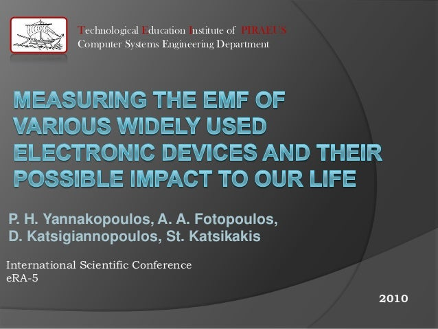 Measuring the EMF of various widely used electronic devices and their possible impact to our life