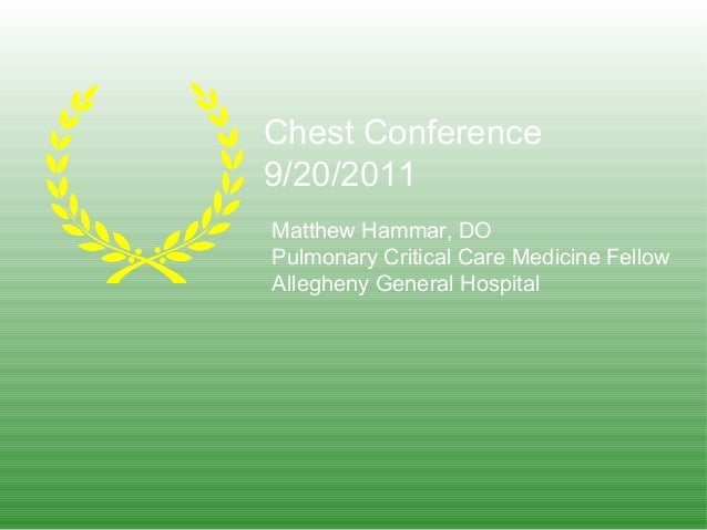 Giant cell chest conference