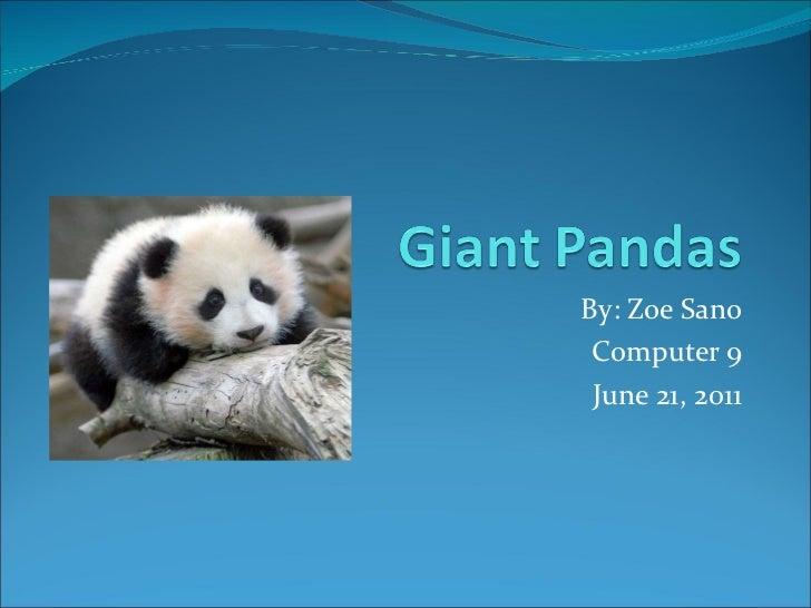 By: Zoe Sano Computer 9 June 21, 2011