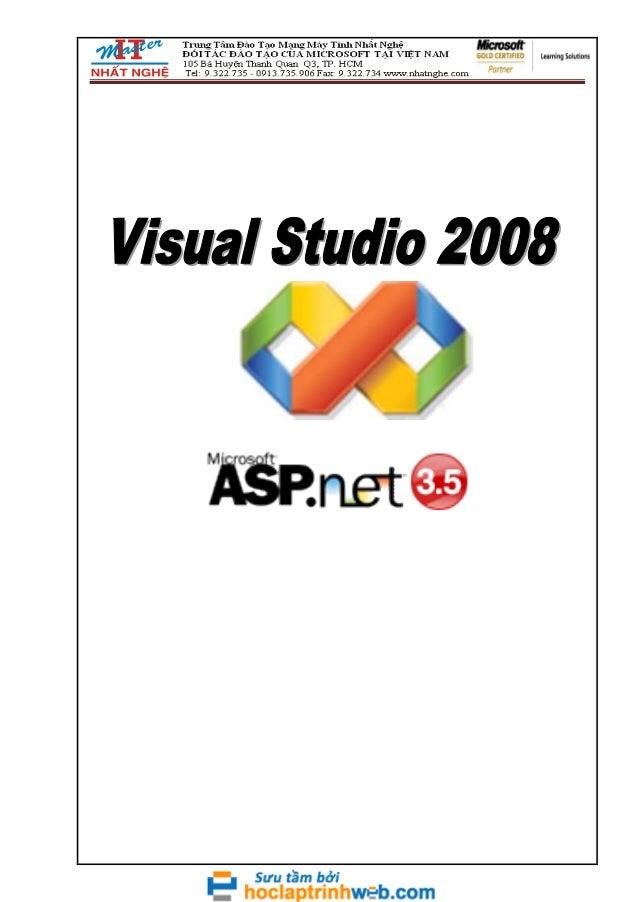 Giáo trình asp net 3.5 sử dụng VS 2008 - Nhất Nghệ