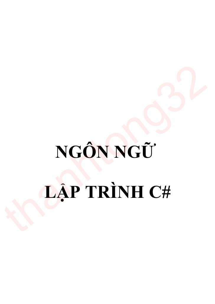 Giao trinh csharp tieng viet[bookbooming.com]