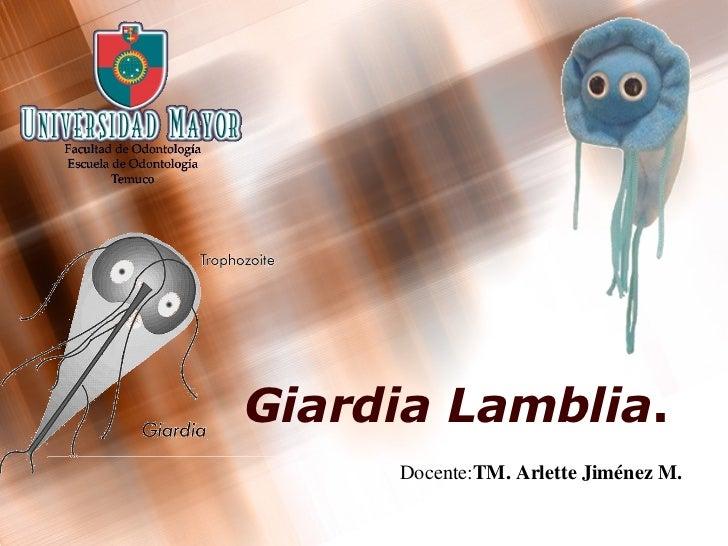 Giardia   Lamblia . Docente: TM. Arlette Jiménez M.