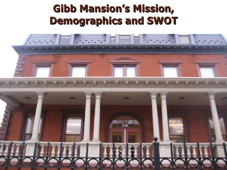 Gibb Mansion's Mission, Demographics and SWOT